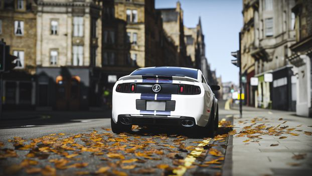 Photo free rear view, ford mustang shelby gt500, racing games