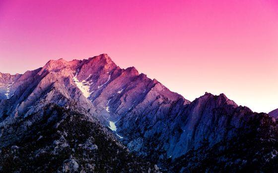 Фото бесплатно вершины гор, закат, природа