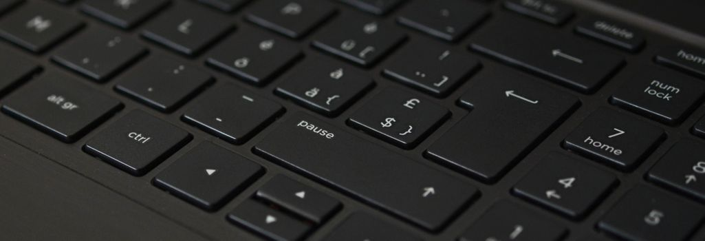 Photo free keyboard, black, laptop