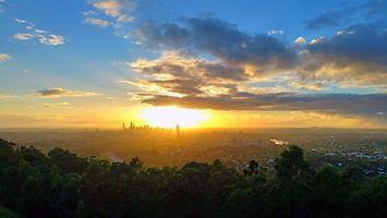 Бесплатные фото город,закат,пейзаж