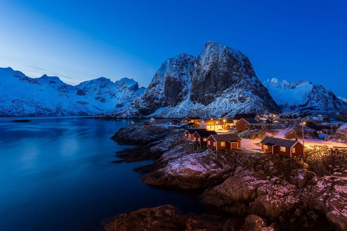 Фото бесплатно Лофотенские острова, Рейне, Reine, Норвегия, Lofoten, Lofoten Islands, Hamnoy, Norway, пейзажи