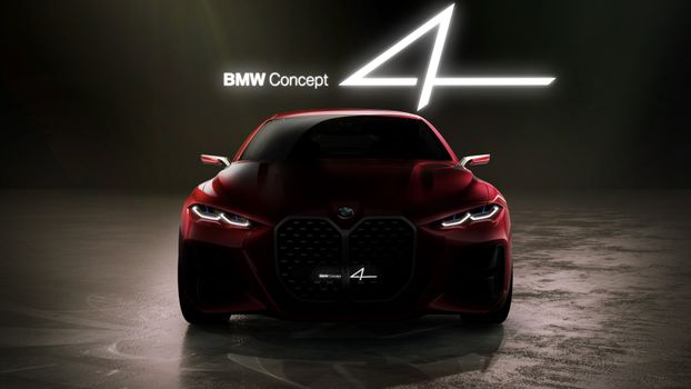 Photo free auto, BMW concept design, view from front