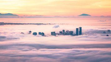 Фото бесплатно ванкувер, канада, облака