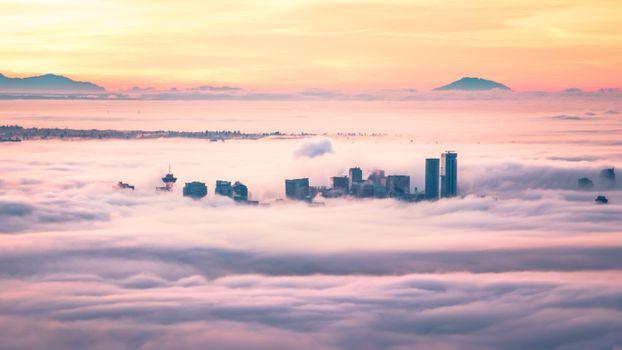 Бесплатные фото ванкувер,канада,облака,город
