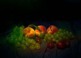 Бесплатные фото фрукты,десерт,персики,виноград,еда