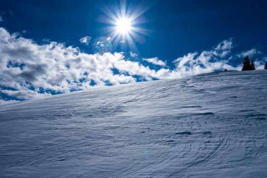 Photo free winter wonderland winter, sky, snowdrifts
