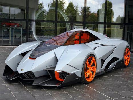 Фото бесплатно автомобили, Lamborghini Egoista, серебро