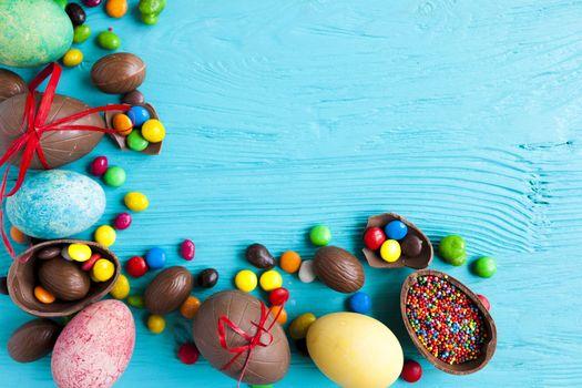 Фото бесплатно пасхальные яйца, праздник, вид сверху