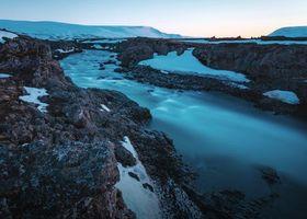 Фото бесплатно река, зима, водопад