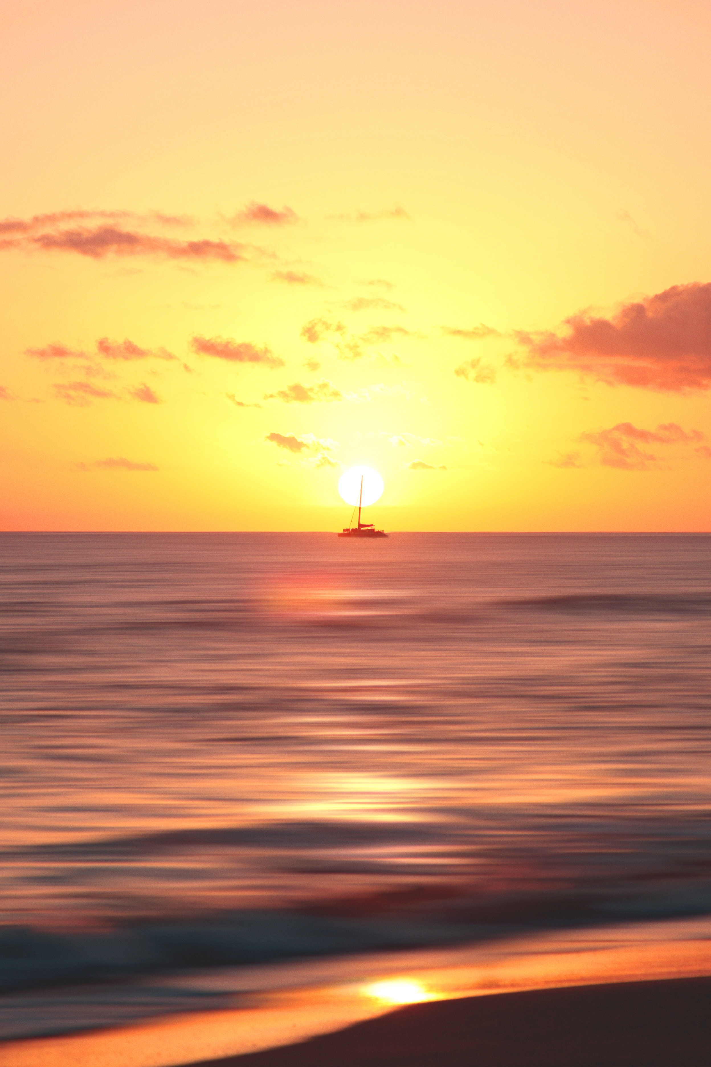 Фото бесплатно корабль, горизонт, рассвет - на рабочий стол