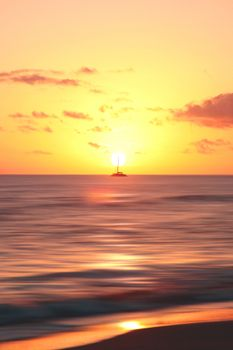 Photo free ship, horizon, dawn