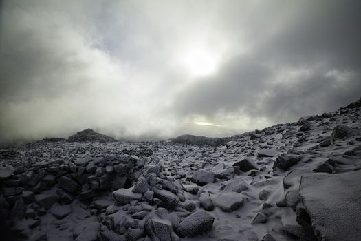 Photo free sun light, landscape, monochrome