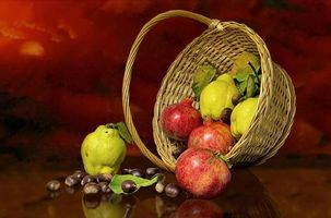 Photo free basket, fruit, pomegranate
