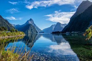 Бесплатные фото Южный остров,Новая Зеландия,Милфорд,озеро,горы,пейзаж