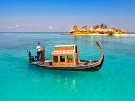 Фото бесплатно лодка, пляж, отдых