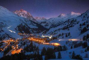 Фото бесплатно Мерибель, Франция, горнолыжный курорт
