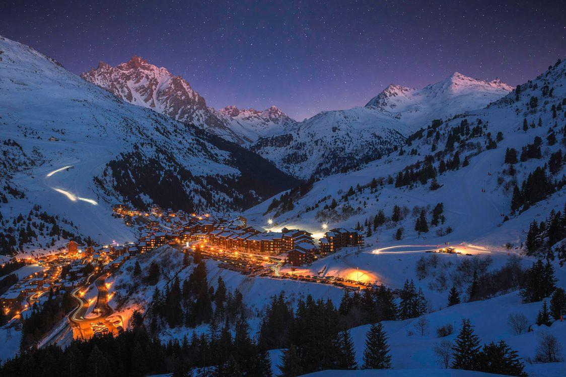Ночь картинки зима 7