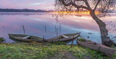 Бесплатные фото Pateira de Fermentelos,Aveiro,Portugal,Авейру,Португалия,озеро,закат