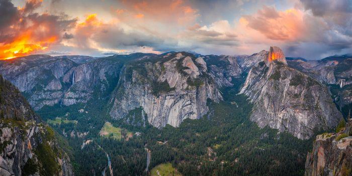 Photo free reserve, panorama, mountains usa