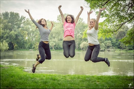Photo free people, woman, jump