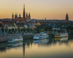 Бесплатные фото Вюрцбург,река,Бавария,Германия