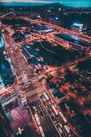 Заставки город тайпей, тайвань, ночной город