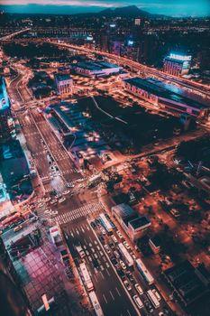 Бесплатные фото город тайпей,тайвань,ночной город,вид сверху,taipei city,taiwan,night city,top view
