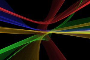 Волнистые линии разноцветные
