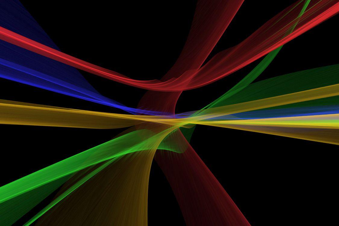 Волнистые линии разноцветные • бесплатное фото