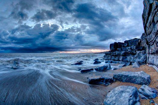 Фото бесплатно Пляж Гламорган, побережье Уэльс, пляж