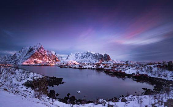 Фото бесплатно горы, Лофотенские острова, Норвегия