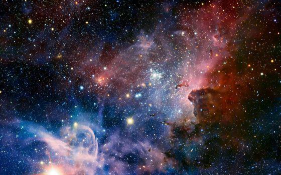 Фото бесплатно красочно, галактика, звезды