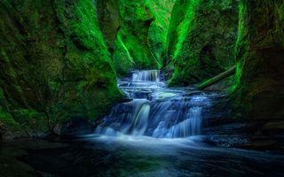 Бесплатные фото Шотландия Ущелье,Финнич,водопад,скалы,река,пейзаж