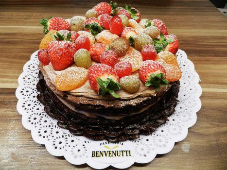 Photo free cake, fruits, strawberry