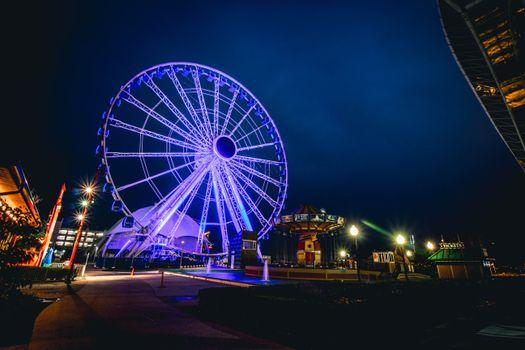 Photo free amusement park, landscapes, ferris wheel