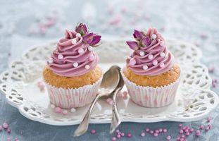 Бесплатные фото keksy,krem,rozovyy,ukrashenie