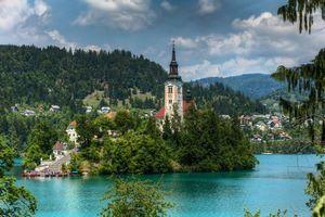 Заставки Блед озеро, озеро Блед, Словения