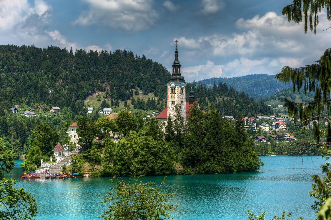 Фото бесплатно Блед озеро озеро Блед Словения - на рабочий стол