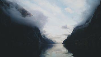 Фото бесплатно норд, облако, норвегия, пляж, море, звезда, пейзаж, озеро, вода, отражение, горы