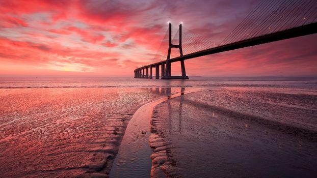 Фото бесплатно Мост Золотые Ворота, архитектура, закат