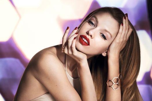 Фото бесплатно модель, Stella Maxwell, красная помада