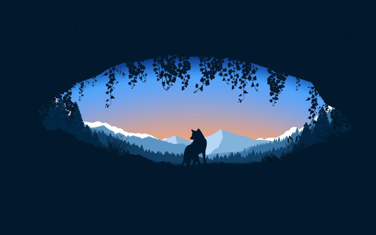 Рисунок и волк