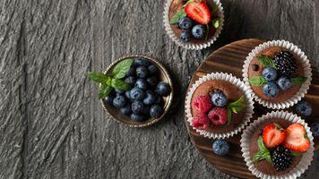 Photo free food, raspberry, strawberry