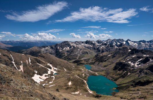 Photo free clouds, mountain lake, Andorra