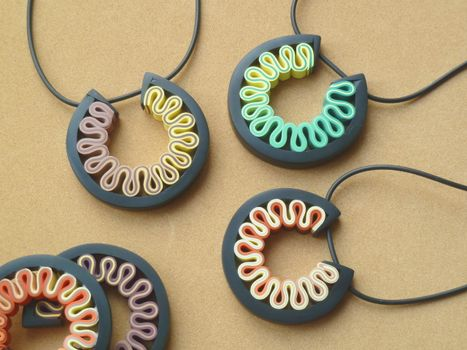 Photo free necklace, pendant, polymerclay