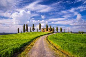 Фото бесплатно холмы, Italy, дорога