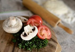 Фото бесплатно еда, шампиньон, помидоры