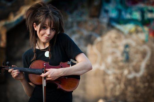 Заставки Lindsey Stirling, скрипка, струны