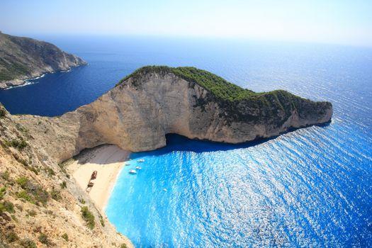 Фото бесплатно Греция, море, бухта, скалы, пляж