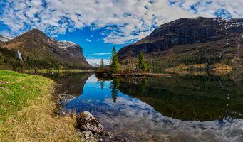 Фото бесплатно пейзаж норвегии, пейзажи, природа